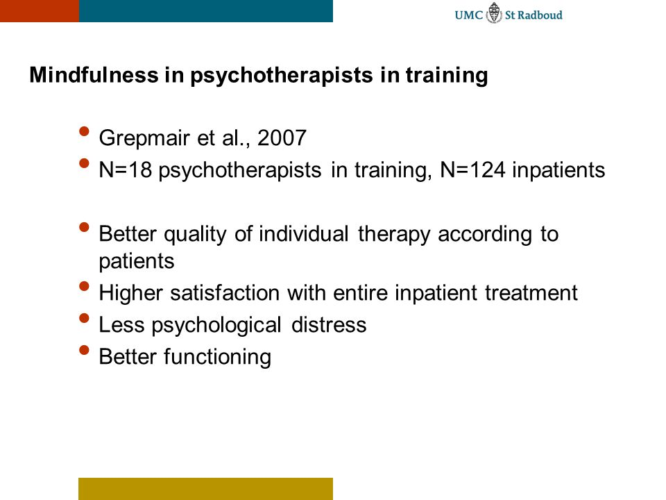 Mindfulness in psychotherapists in training