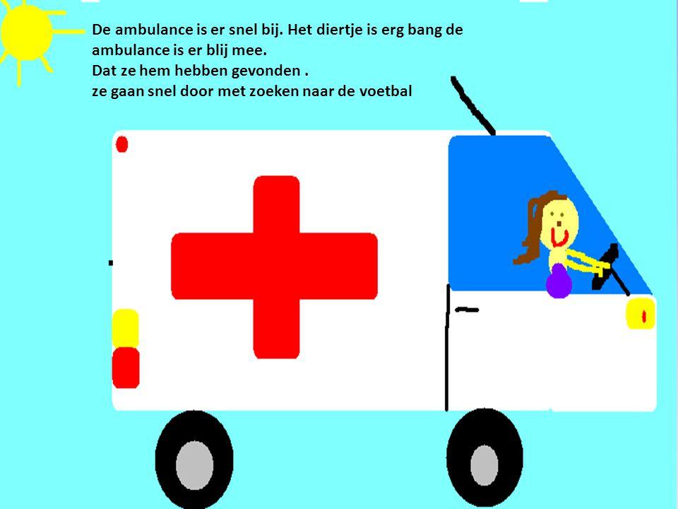 De ambulance is er snel bij