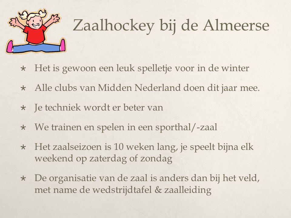 Zaalhockey bij de Almeerse