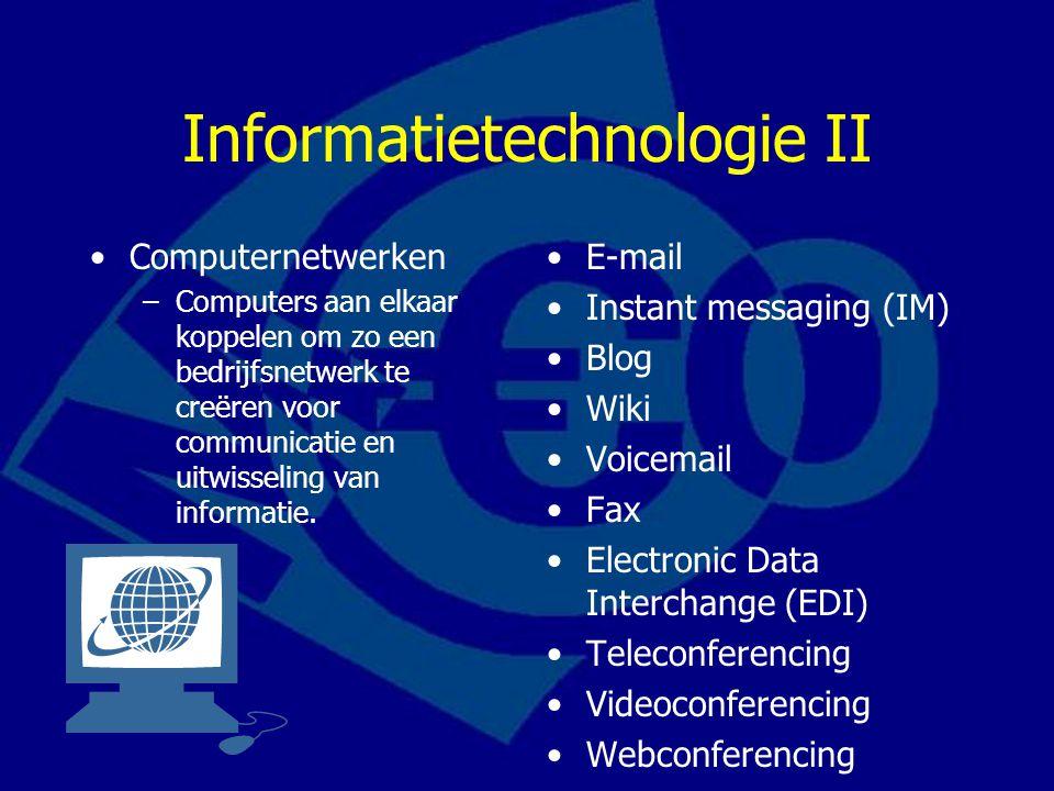 Informatietechnologie II