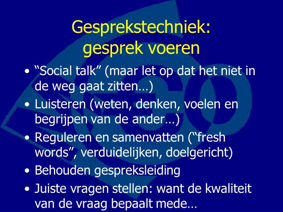 Gesprekstechniek: gesprek voeren