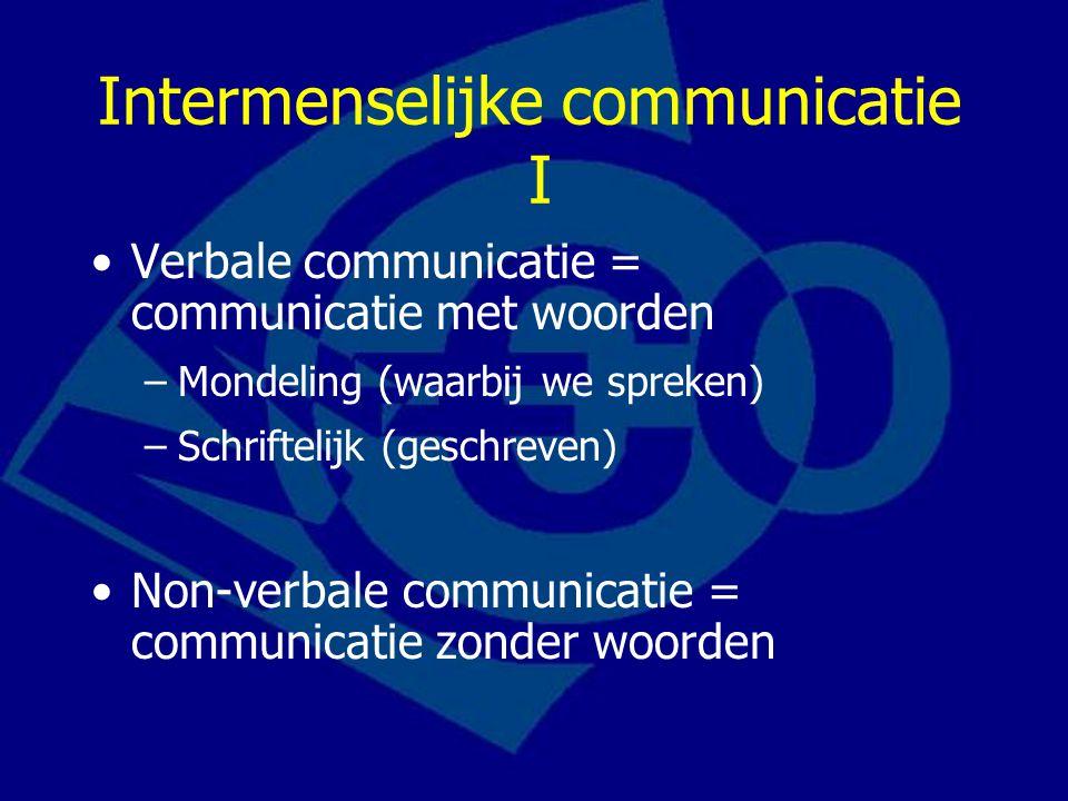 Intermenselijke communicatie I