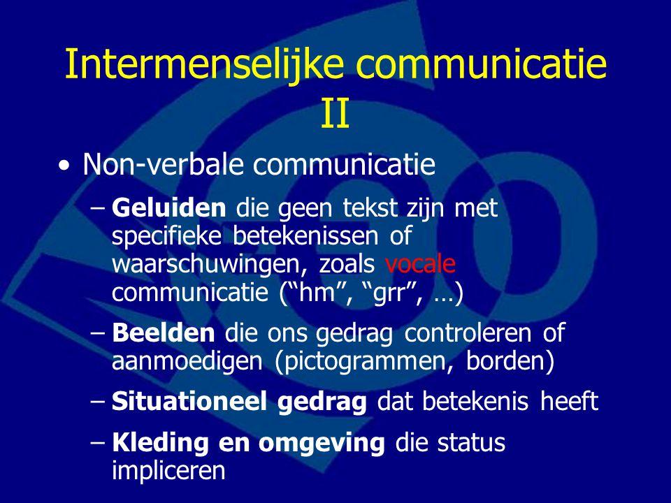 Intermenselijke communicatie II