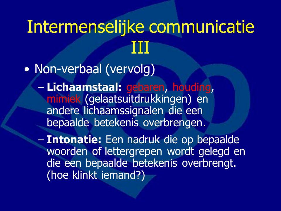 Intermenselijke communicatie III