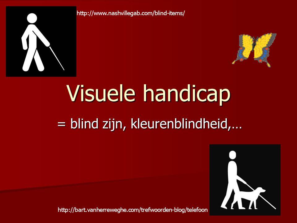 = blind zijn, kleurenblindheid,…