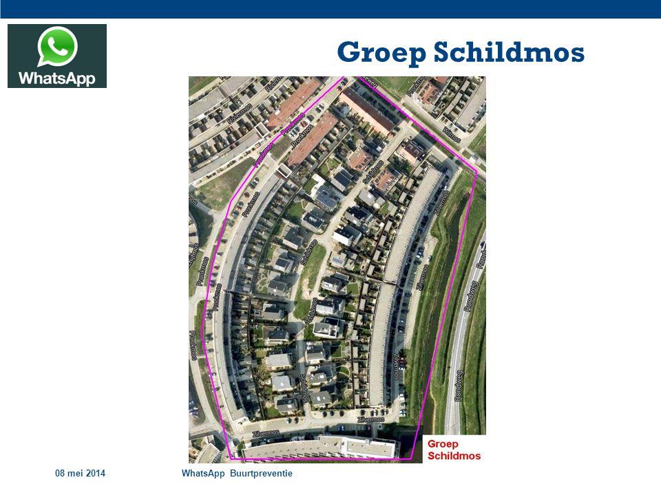 Groep Schildmos 08 mei 2014 WhatsApp Buurtpreventie