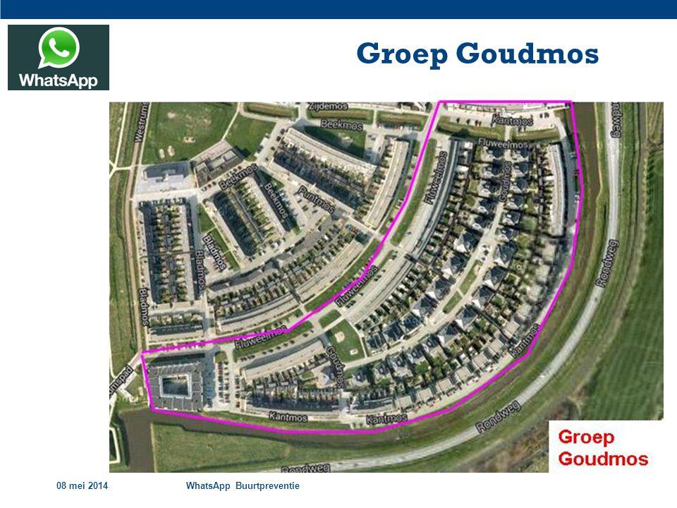 Groep Goudmos 08 mei 2014 WhatsApp Buurtpreventie