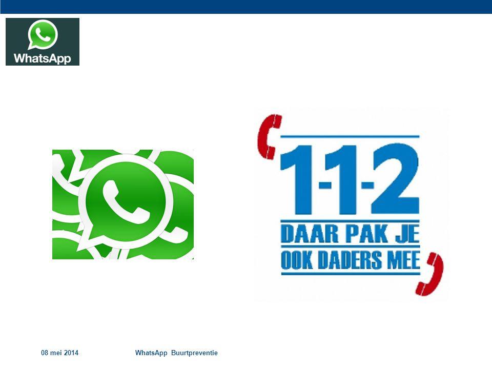 08 mei 2014 WhatsApp Buurtpreventie