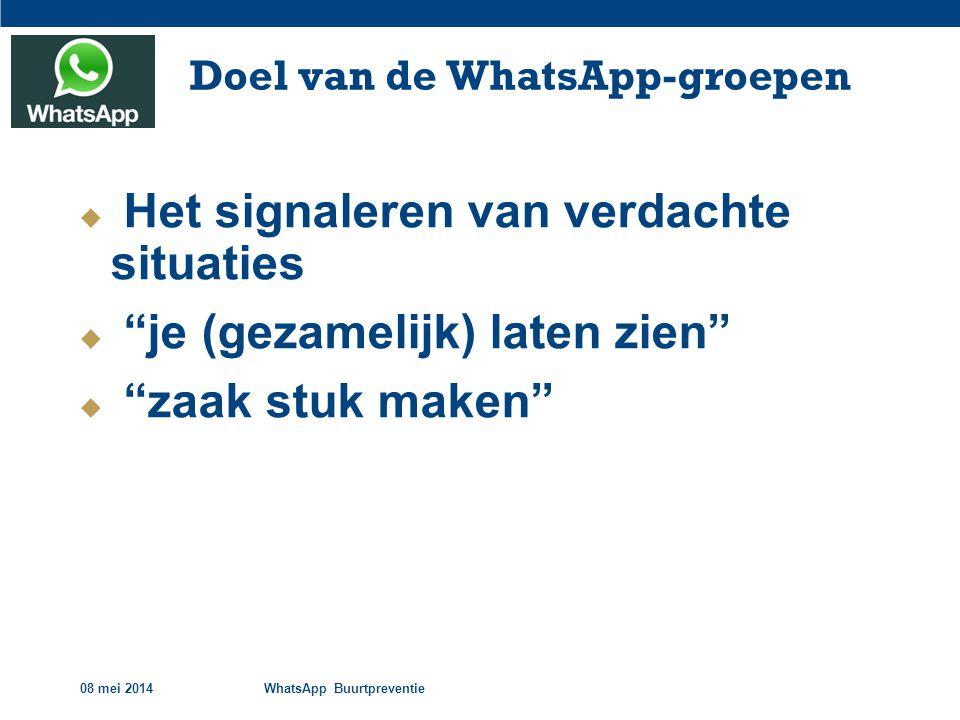 Doel van de WhatsApp-groepen