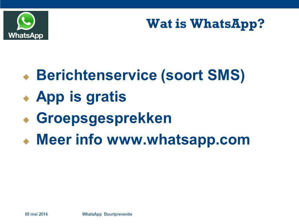 Berichtenservice (soort SMS) App is gratis Groepsgesprekken