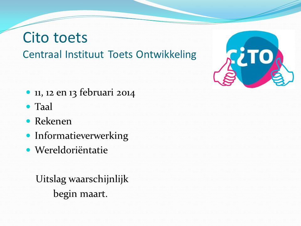Cito toets Centraal Instituut Toets Ontwikkeling