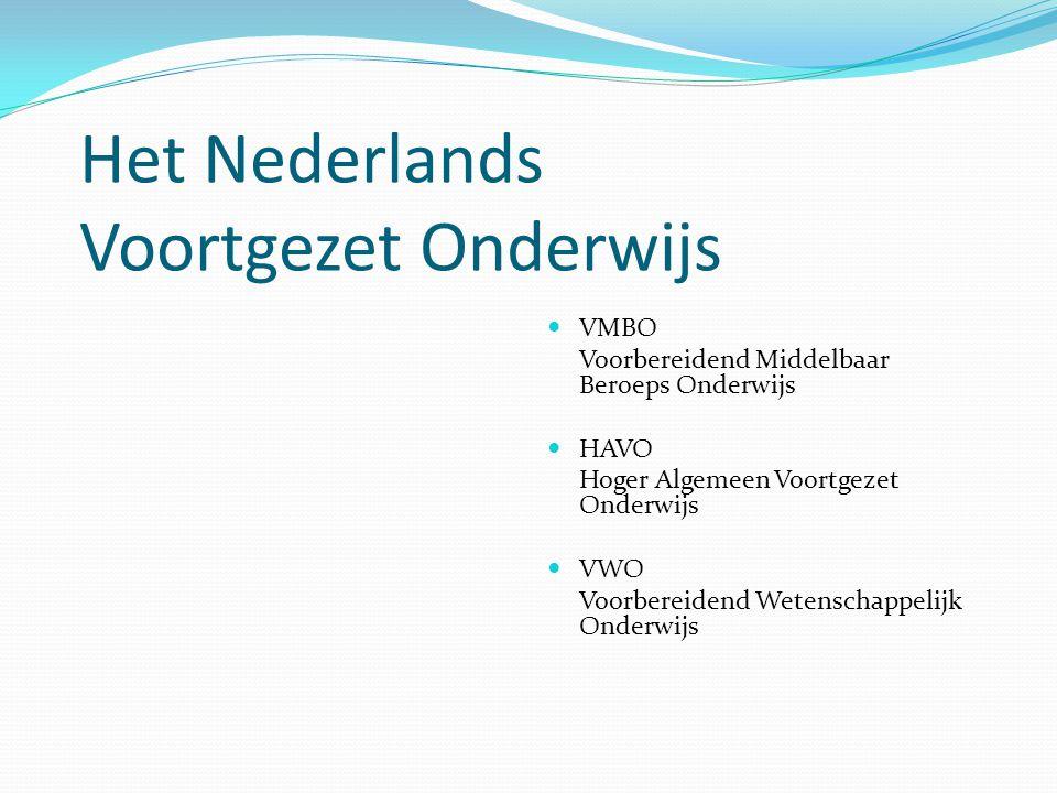 Het Nederlands Voortgezet Onderwijs
