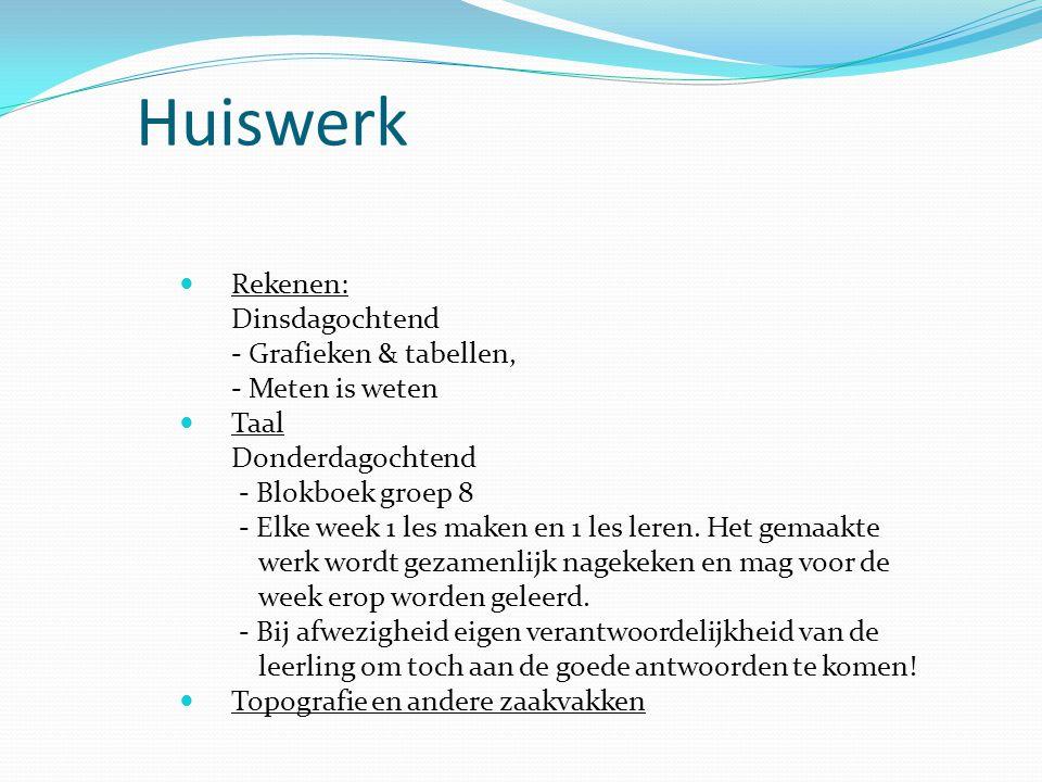 Huiswerk Rekenen: Dinsdagochtend - Grafieken & tabellen,