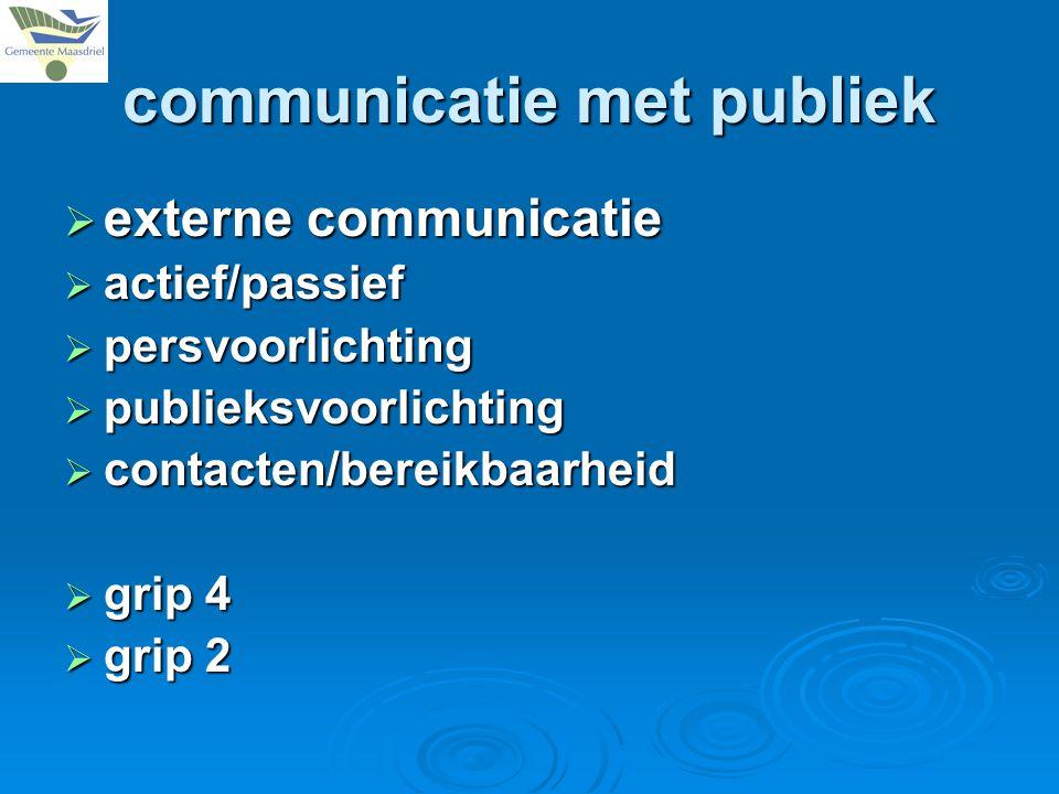 communicatie met publiek