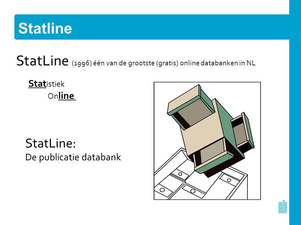 StatLine (1996) één van de grootste (gratis) online databanken in NL