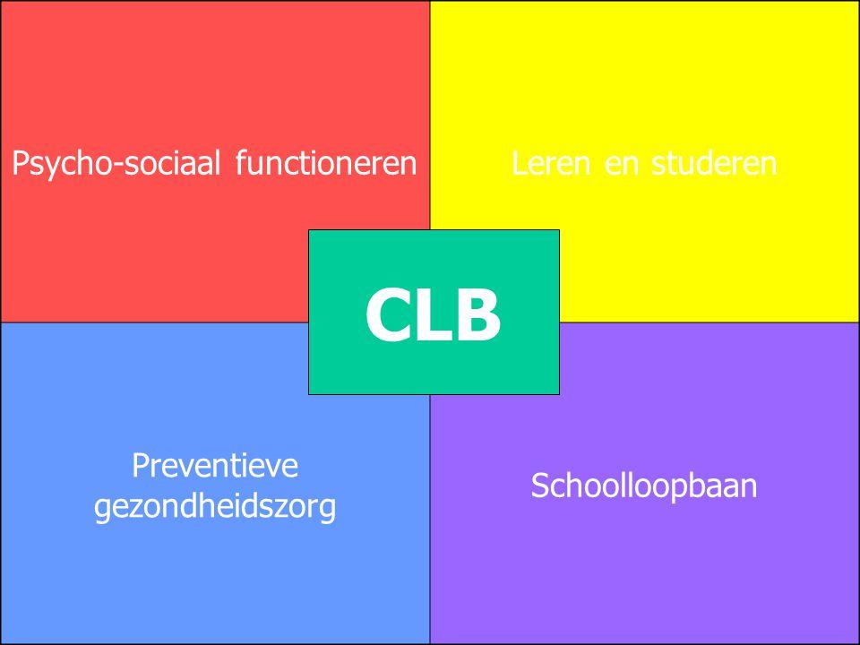 CLB Psycho-sociaal functioneren Leren en studeren