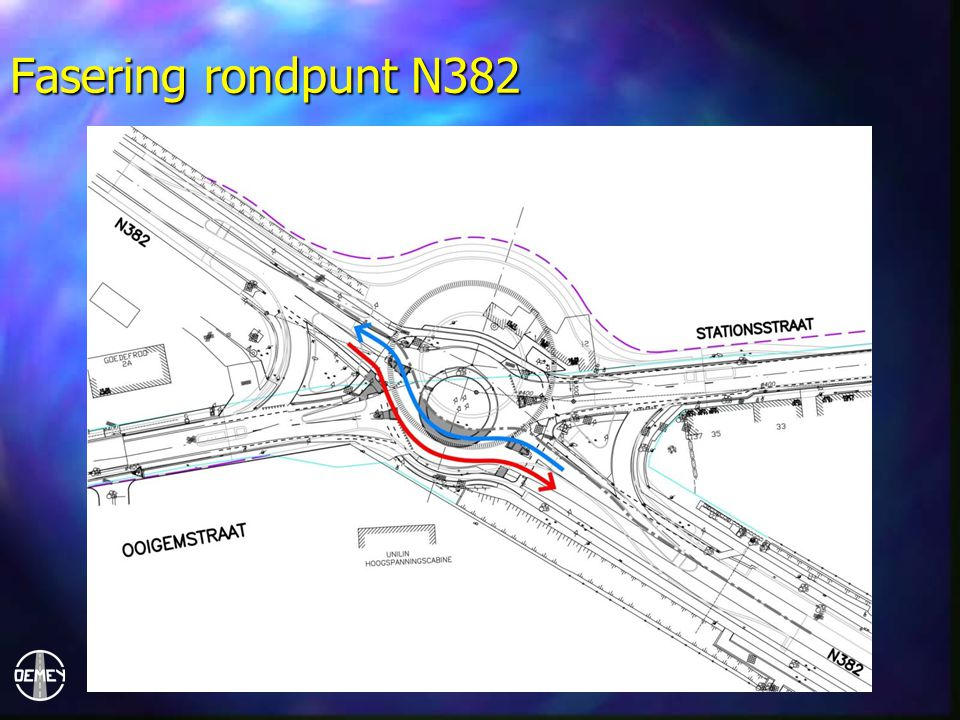 Fasering rondpunt N382