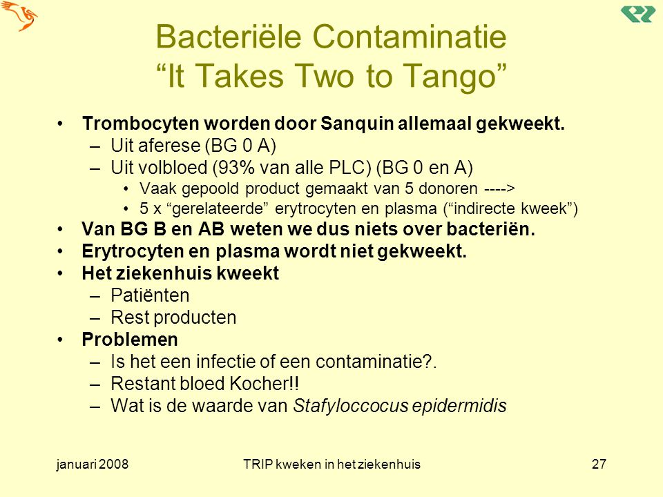 Bacteriële Contaminatie It Takes Two to Tango