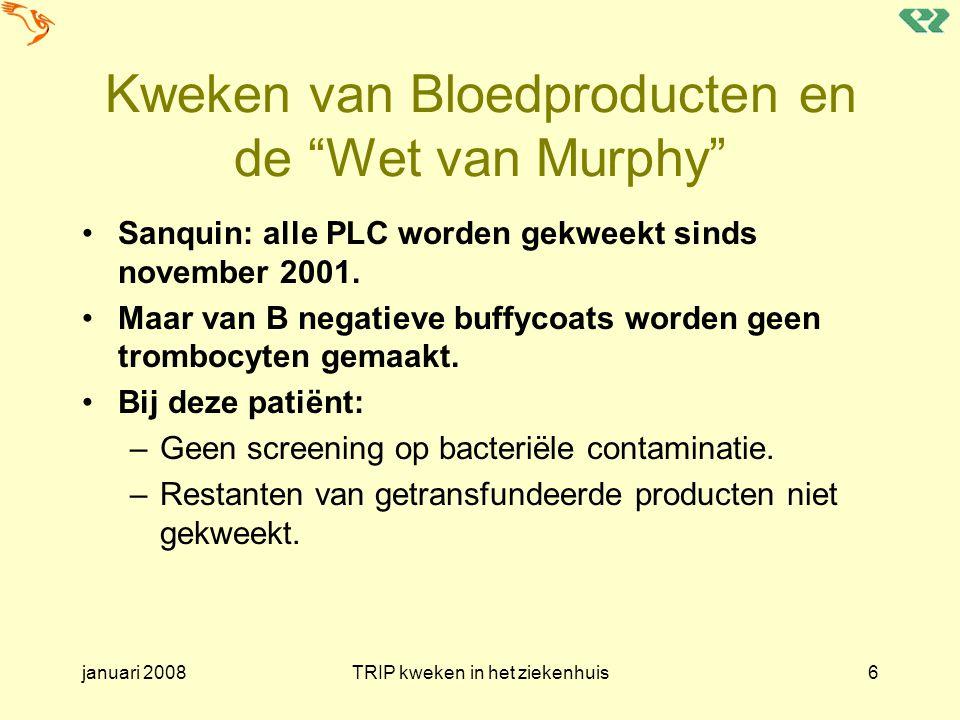 Kweken van Bloedproducten en de Wet van Murphy