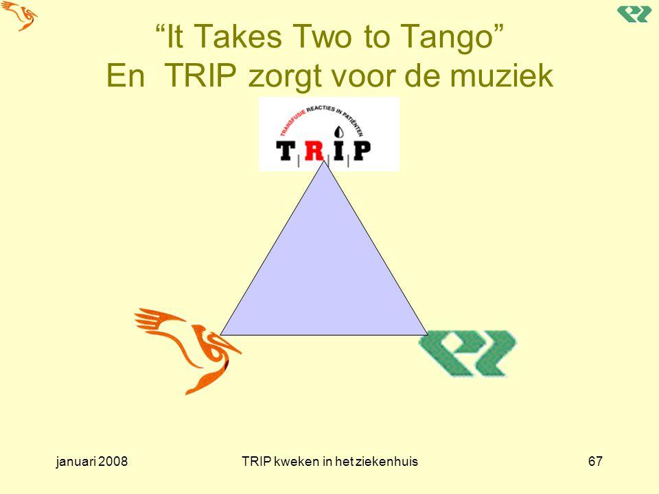 It Takes Two to Tango En TRIP zorgt voor de muziek