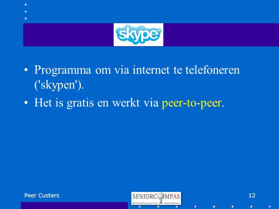 Programma om via internet te telefoneren ( skypen ).