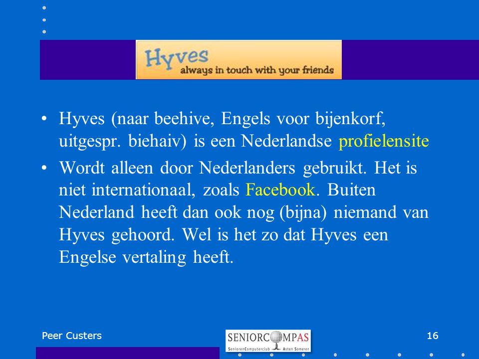 Hyves (naar beehive, Engels voor bijenkorf, uitgespr