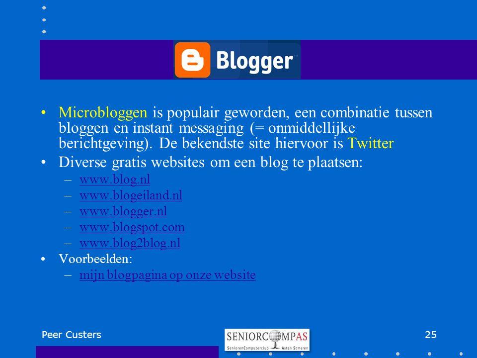 Diverse gratis websites om een blog te plaatsen: