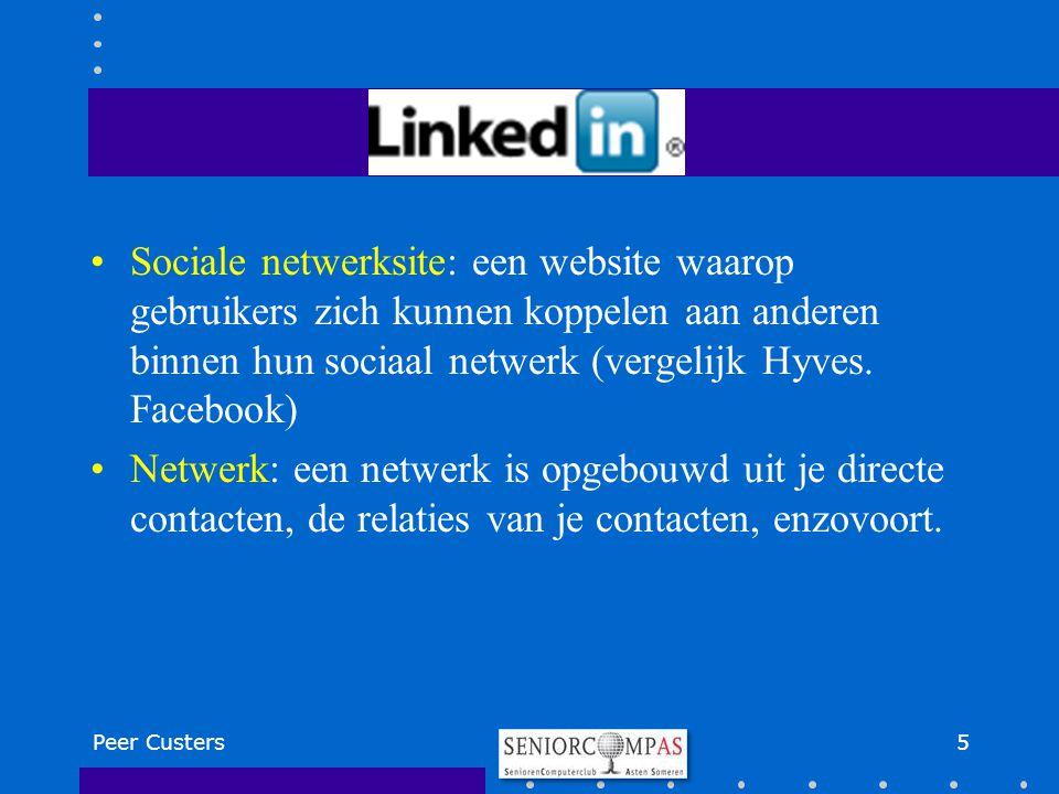 Sociale netwerksite: een website waarop gebruikers zich kunnen koppelen aan anderen binnen hun sociaal netwerk (vergelijk Hyves. Facebook)