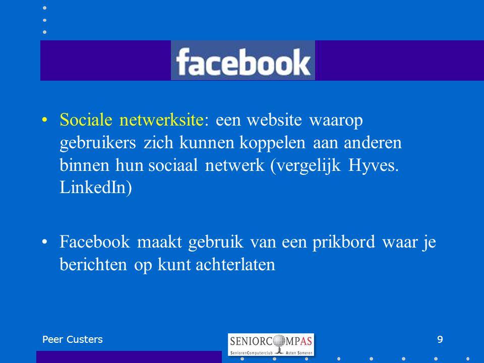 Sociale netwerksite: een website waarop gebruikers zich kunnen koppelen aan anderen binnen hun sociaal netwerk (vergelijk Hyves. LinkedIn)