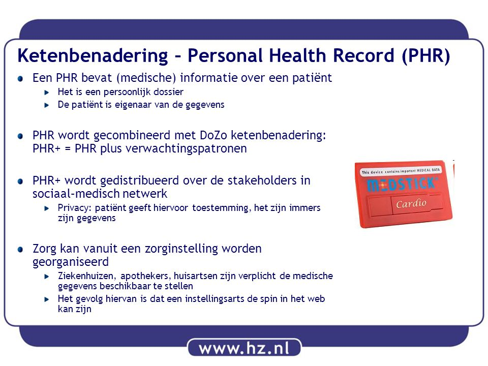 Ketenbenadering – Personal Health Record (PHR)