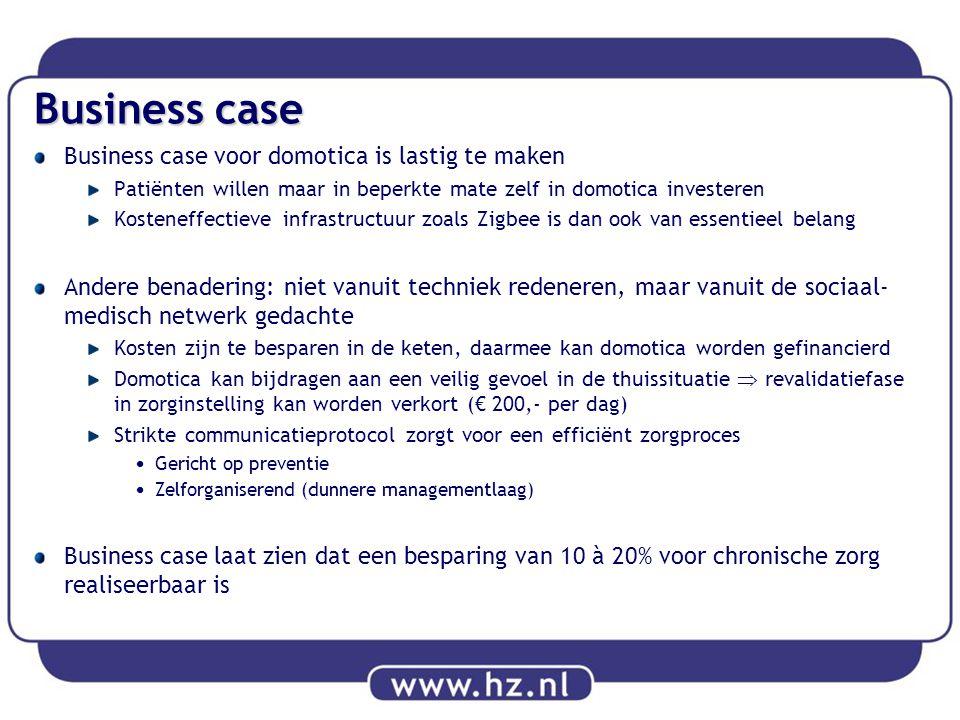 Business case Business case voor domotica is lastig te maken