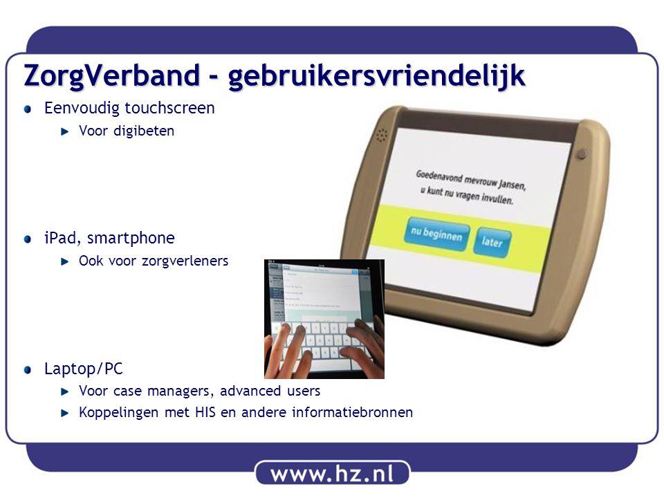 ZorgVerband - gebruikersvriendelijk