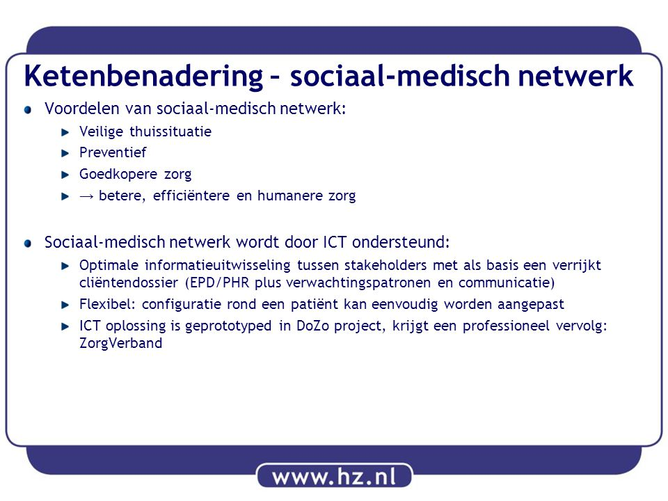 Ketenbenadering – sociaal-medisch netwerk