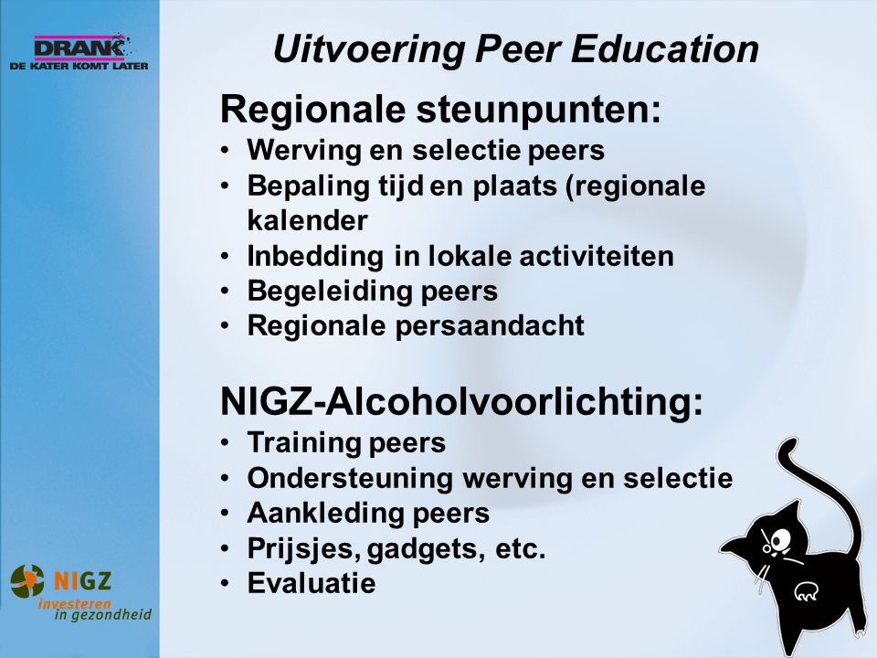 Uitvoering Peer Education