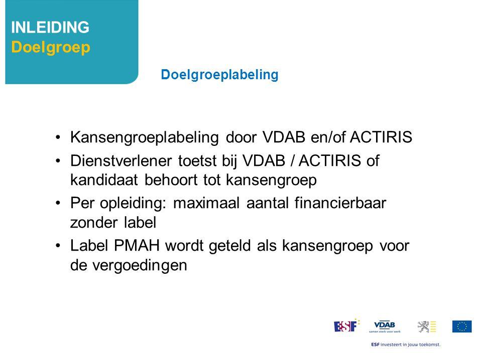 Kansengroeplabeling door VDAB en/of ACTIRIS