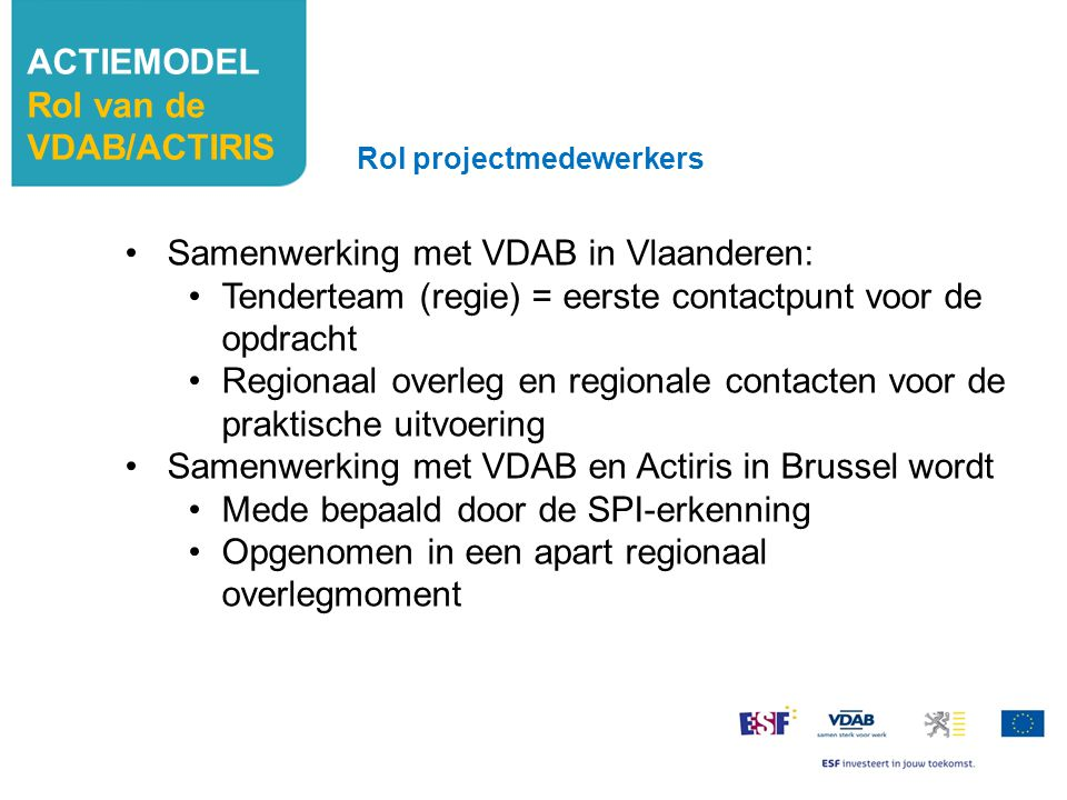 Samenwerking met VDAB in Vlaanderen: