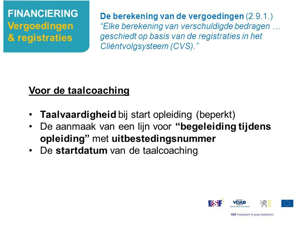 Taalvaardigheid bij start opleiding (beperkt)