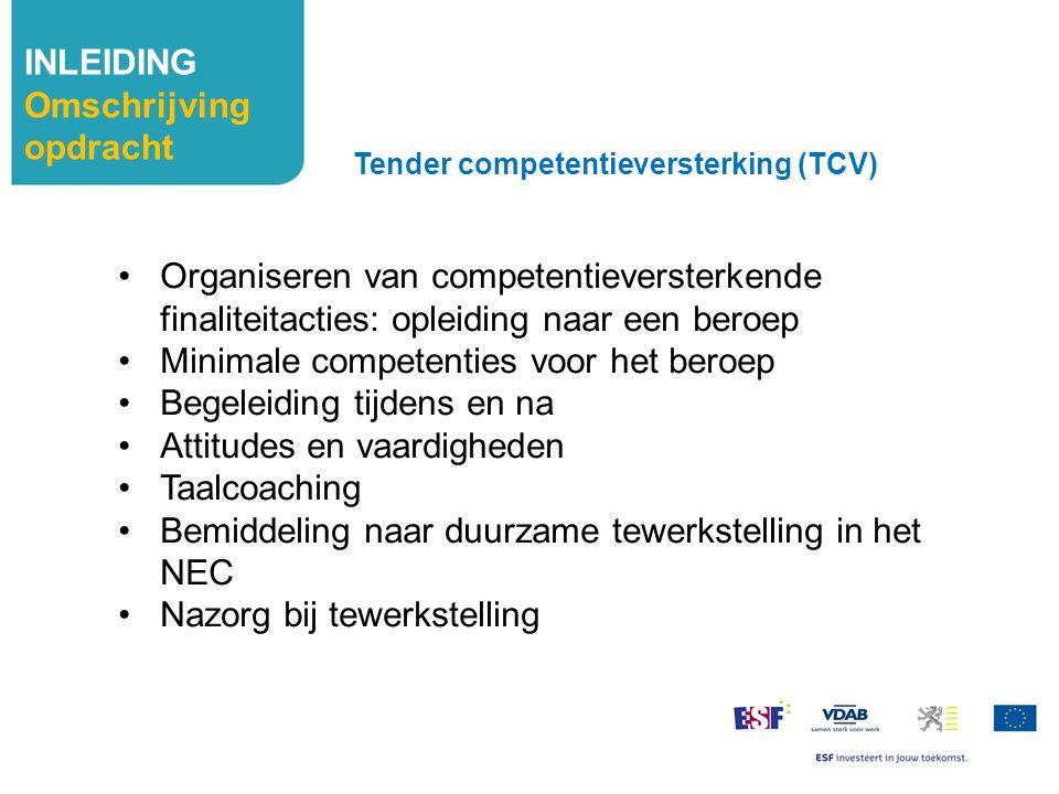 Minimale competenties voor het beroep Begeleiding tijdens en na