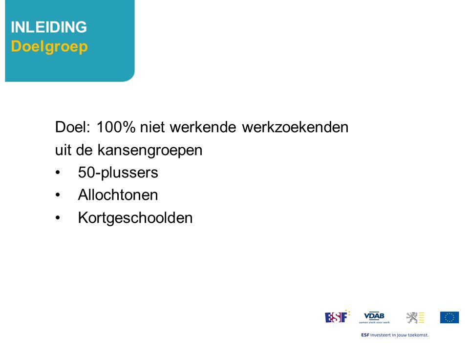 Doel: 100% niet werkende werkzoekenden uit de kansengroepen