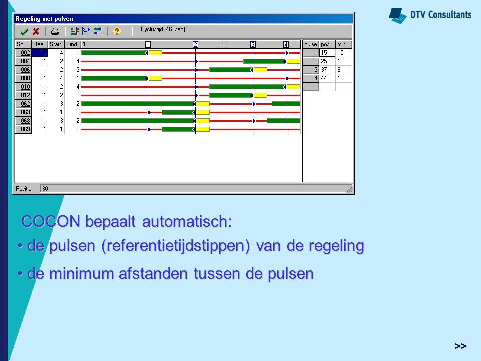 COCON bepaalt automatisch: