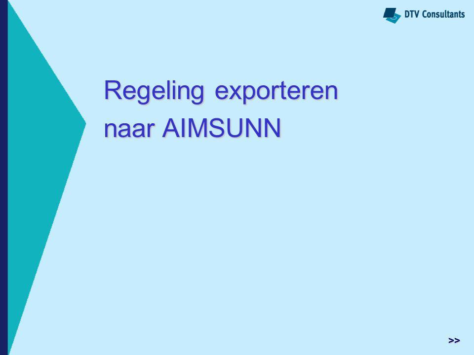 Regeling exporteren naar AIMSUNN >>