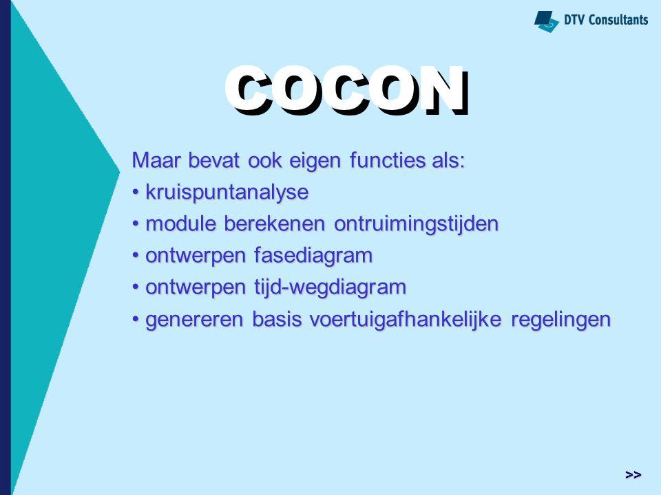 COCON COCON Maar bevat ook eigen functies als: kruispuntanalyse