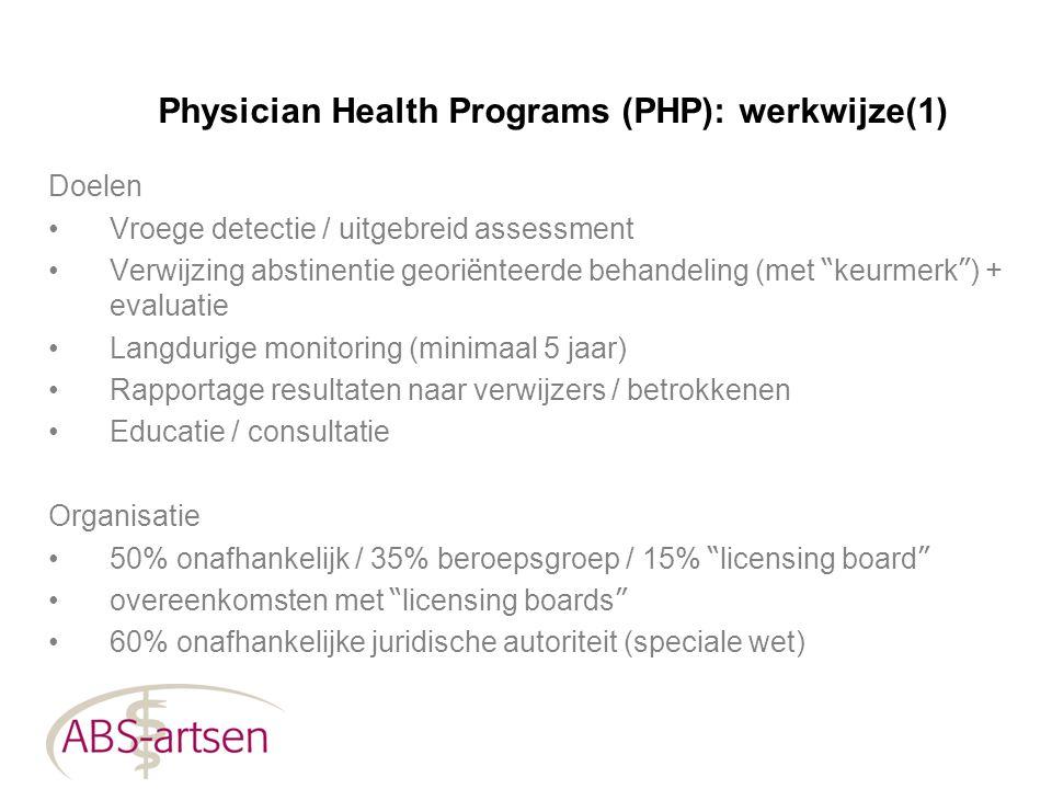 Physician Health Programs (PHP): werkwijze(1)