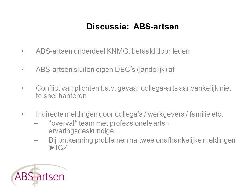 Discussie: ABS-artsen