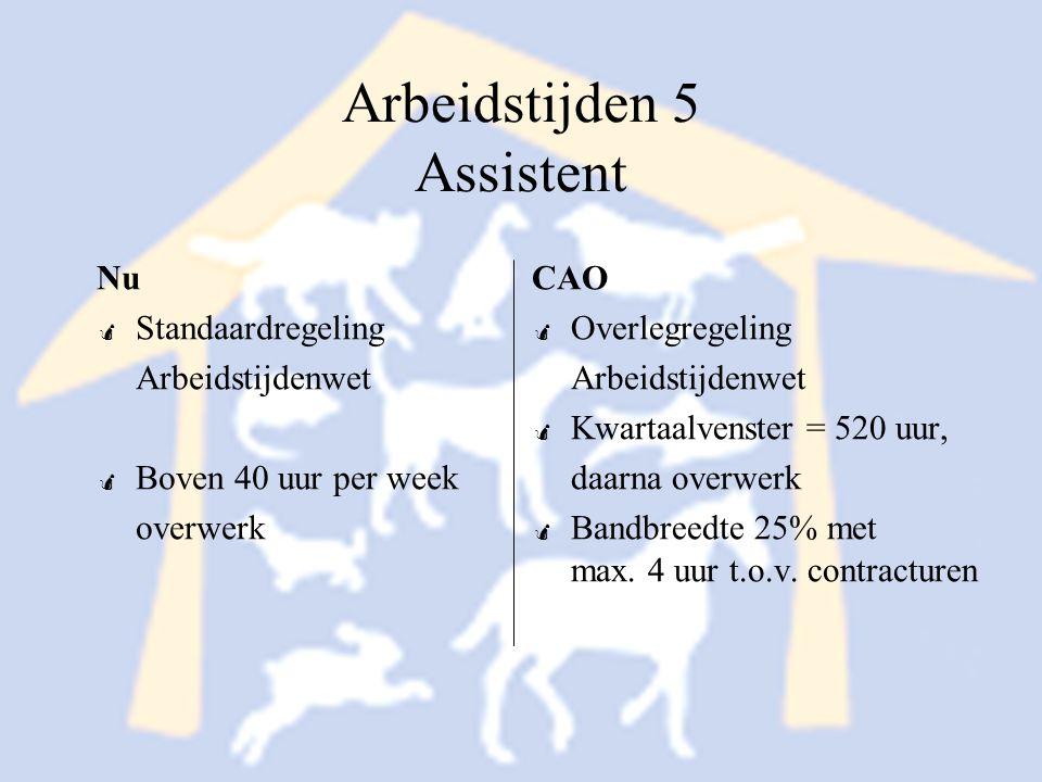 Arbeidstijden 5 Assistent
