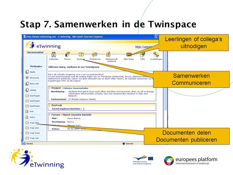 Stap 7. Samenwerken in de Twinspace
