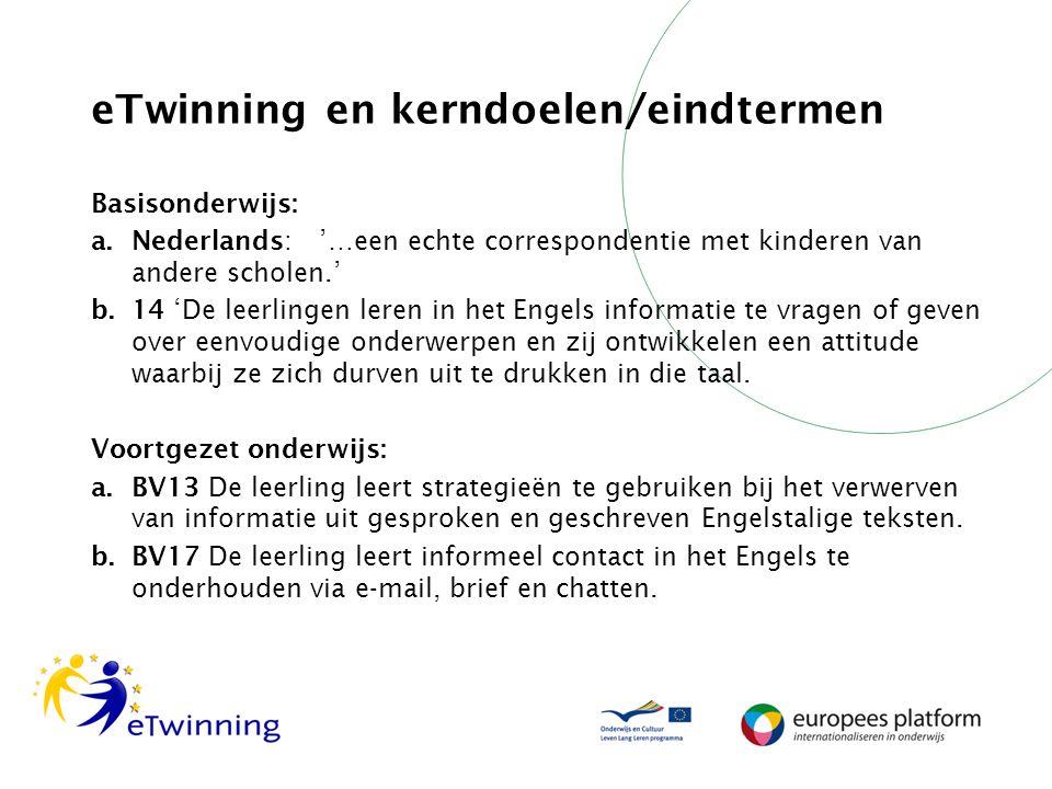 eTwinning en kerndoelen/eindtermen