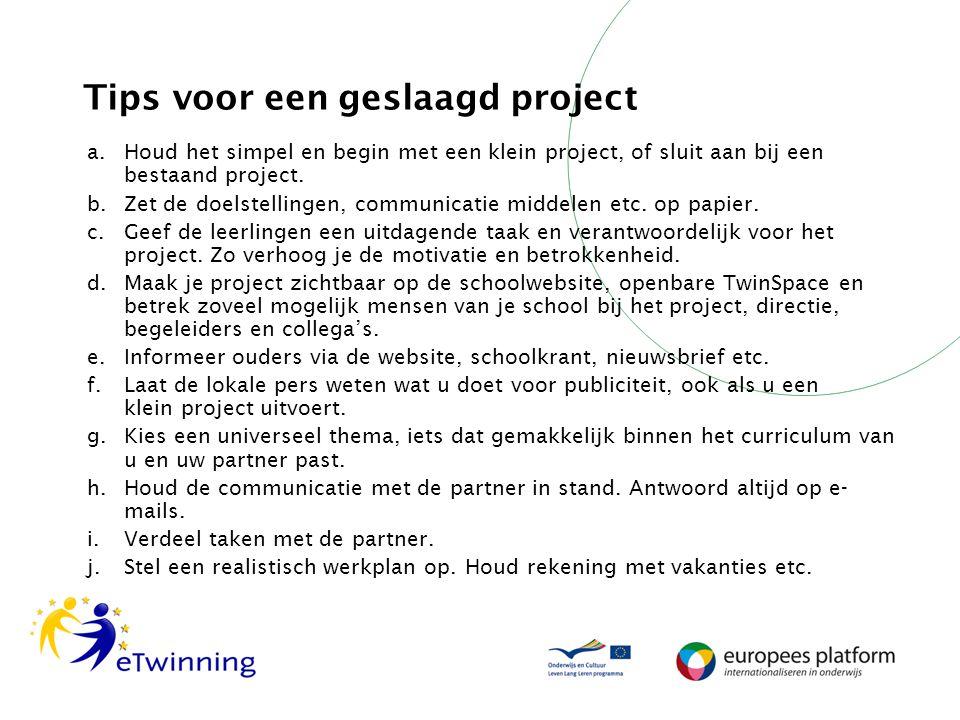 Tips voor een geslaagd project
