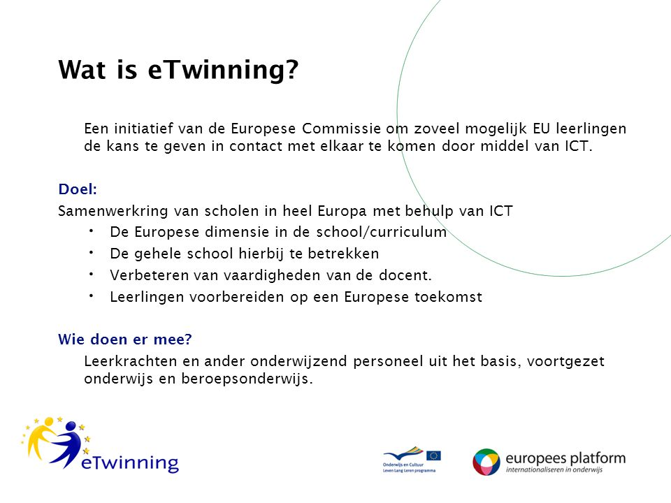 Wat is eTwinning