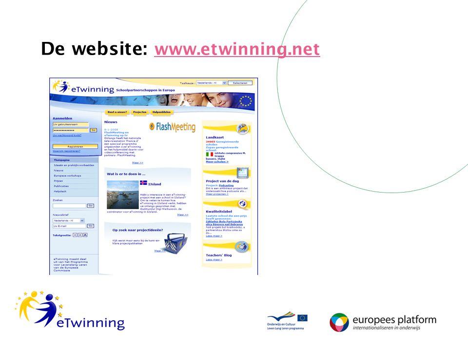 De website: www.etwinning.net